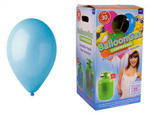Helium kit inkl. 30 stk. lyseblå 10