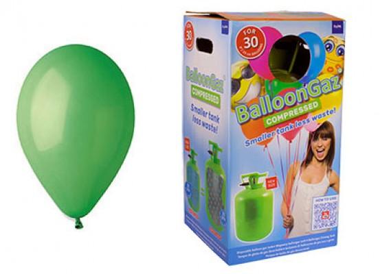 Helium kit inkl. 30 stk. grønne 10