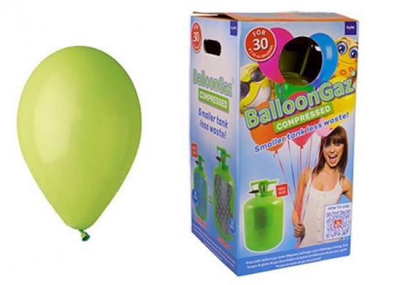 Helium kit inkl. 30 stk. limegrønne 10
