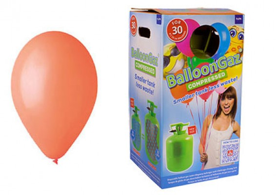 Helium kit inkl. 30 stk. orange 10