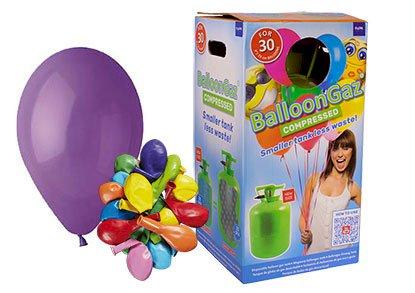 Helium Kit, lille flaske inkl. balloner