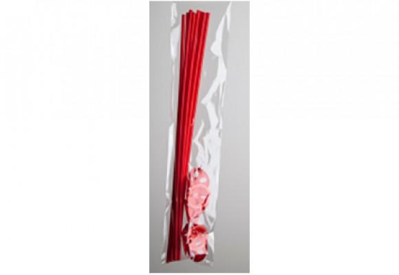 Rød ballonpind i plast