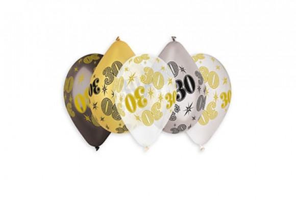 30 År mix metal ballon