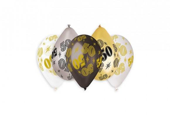 50 År mix metal ballon