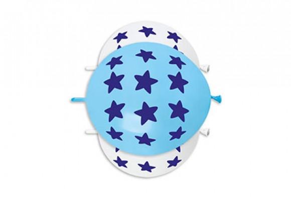 Store Stjerner blå link balloner