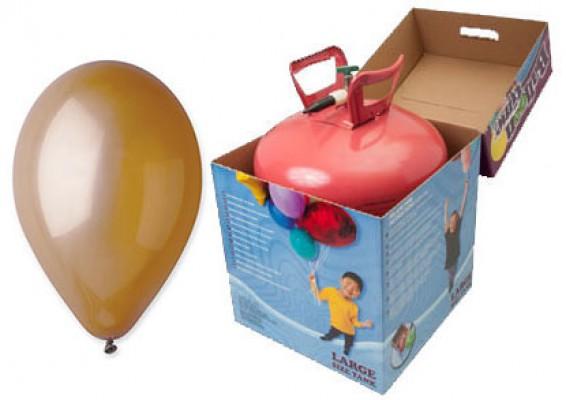 Helium kit inkl. 50 stk. mokka 10