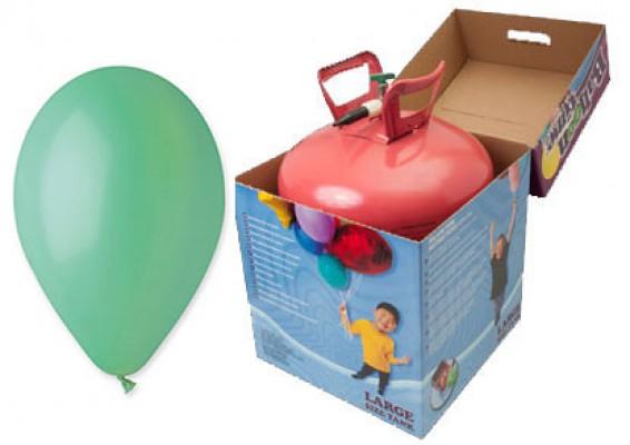 Helium kit inkl. 50 stk. mintgrønne 10