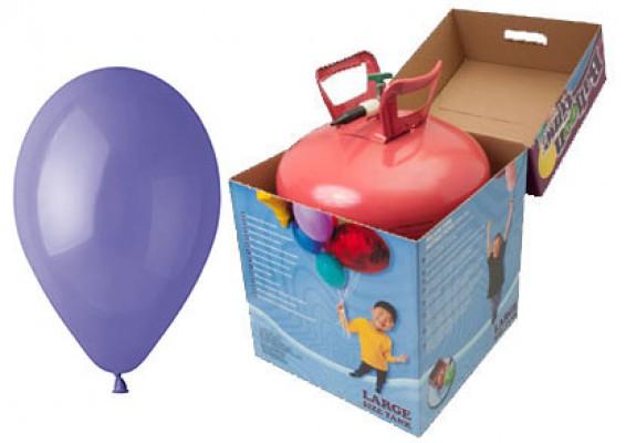 Helium kit inkl. 50 stk. vincablå 10