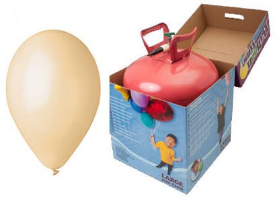Helium kit inkl. 50 stk. beige 10