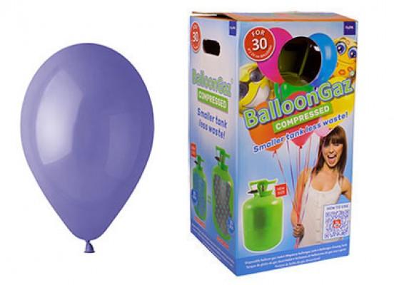 Helium kit inkl. 30 stk. vincablå 10