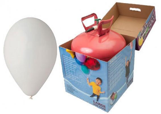 Helium kit inkl. 50 stk. grå 10