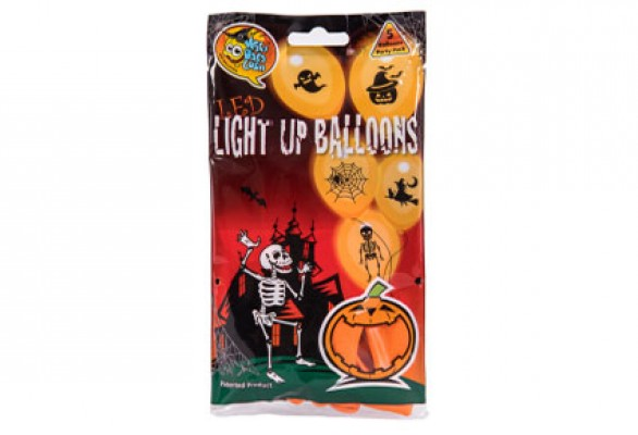 LED - Balloner med lys Halloween Orange