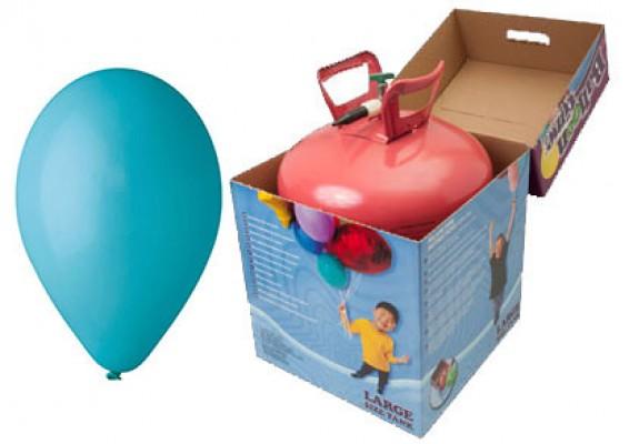 Helium kit inkl. 50 stk. turkis 10