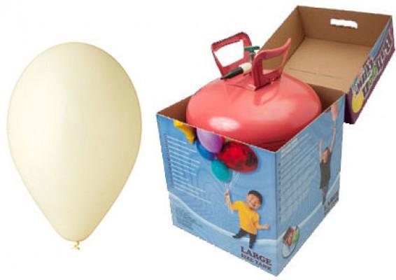 Helium kit inkl. 50 stk. elfenben 10