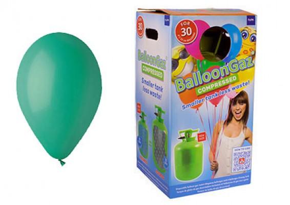 Helium kit inkl. 30 stk. mørkegrøn 10