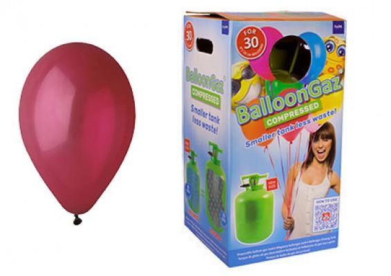 Helium kit inkl. 30 stk. vinrød 10