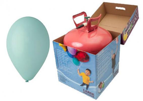 Helium kit inkl. 50 stk. aqua 10