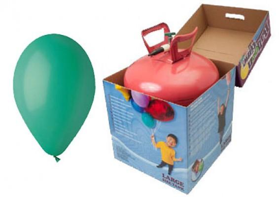 Helium kit inkl. 50 stk. mørkegrønne 10...