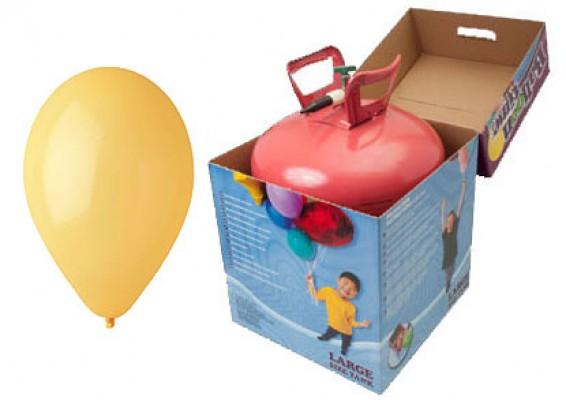 Helium kit inkl. 50 stk. solgule 10