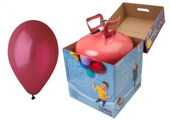 Helium kit inkl. 50 stk. vinrøde 10