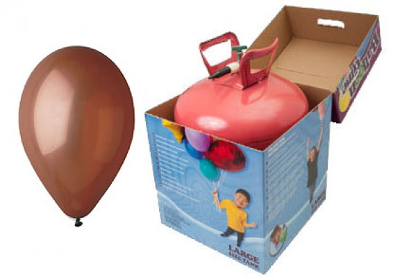 Helium kit inkl. 50 stk. brune 10