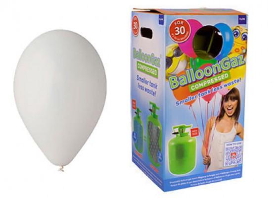 Helium kit inkl. 30 stk. grå 10