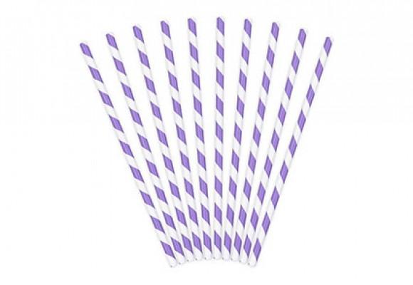 Papirsugerør Lavendel
