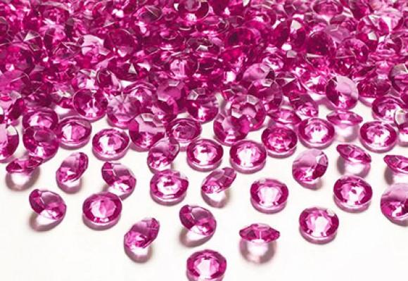 Fuchsia diamant konfetti