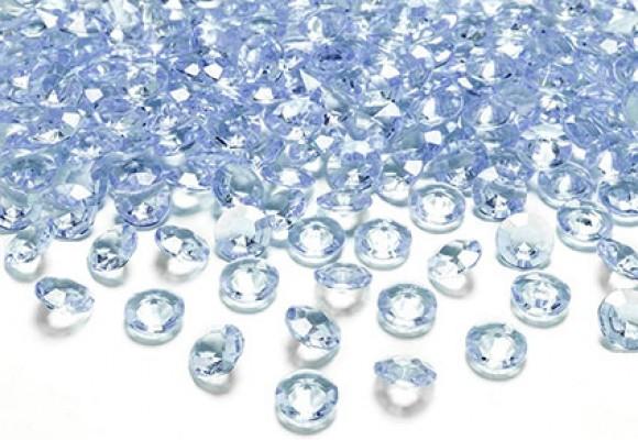 Lyseblå diamant konfetti