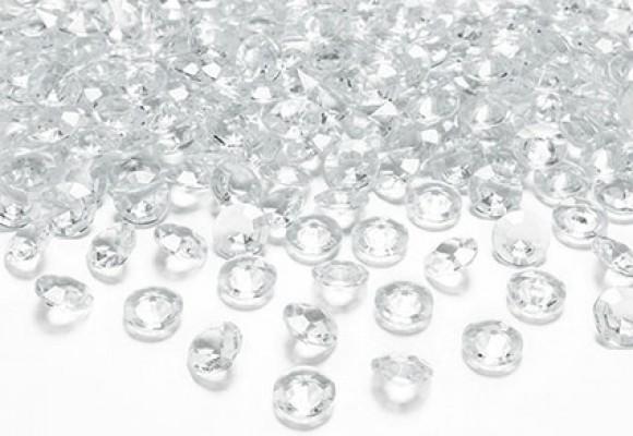 Glasklar diamant konfetti