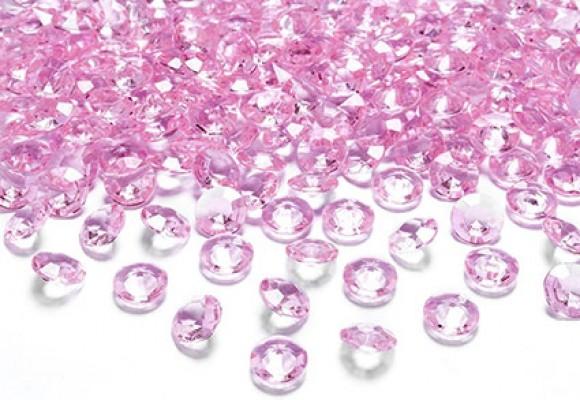Lyserød diamant konfetti