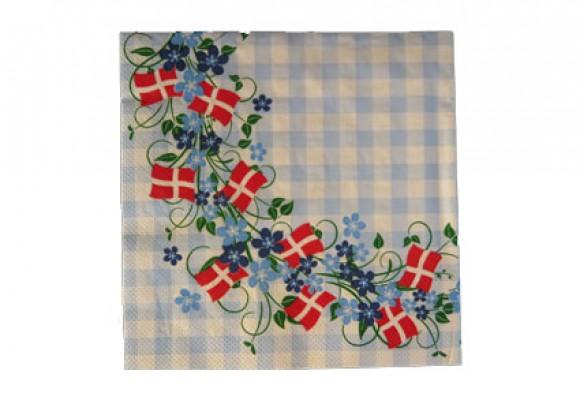 Servietter Danske Flag & Tern