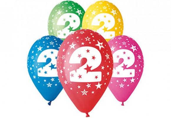 Balloner med 2 år motiv