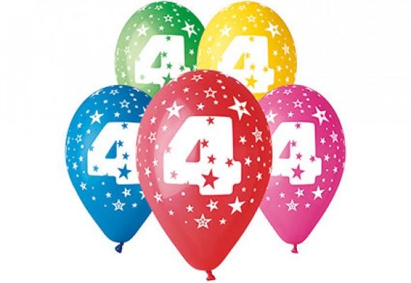 Balloner med 4 år motiv