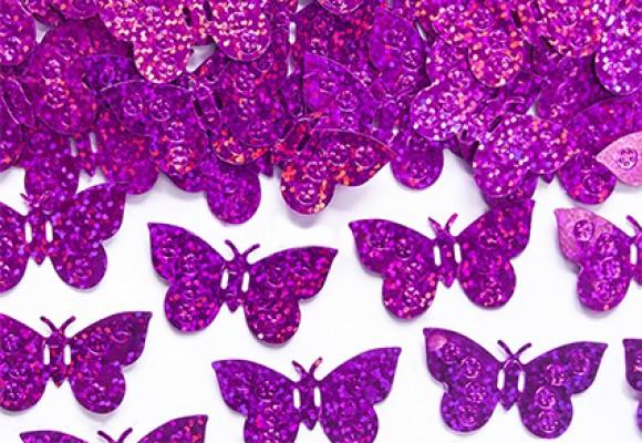 Konfetti Sommerfugl Pink