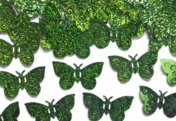 Konfetti Sommerfugl Limegrøn