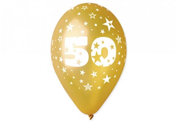 Balloner guld med 50 år motiv