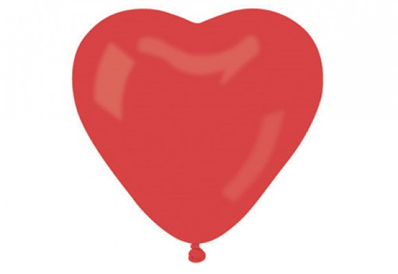 225 F kæmpe Hjerteballon