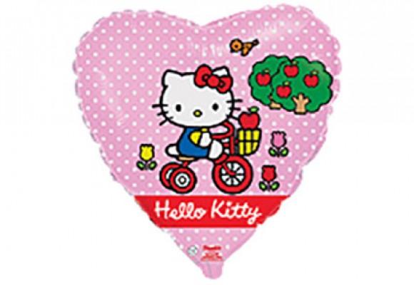 Hello Kitty på cykel