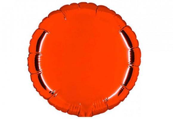 Rød sølvfolieballon - rund 18
