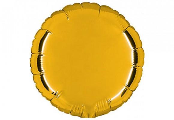 Guld sølvfolieballon - rund 18