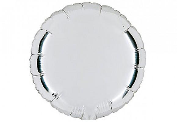 Sølv sølvfolieballon - rund 18
