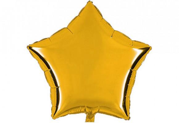 Guld sølvfolieballon - stjerne 18
