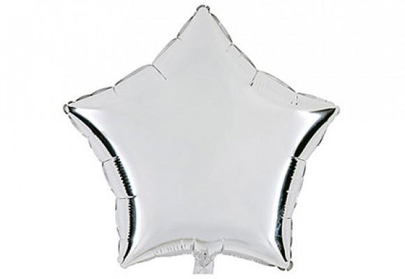 Sølv sølvfolieballon - stjerne 18''