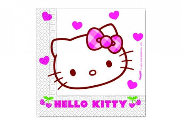 Hello Kitty Hjerte servietter